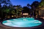 Открытый бассейн ночью