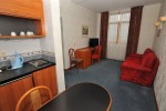 Кухня в номере Apartments small